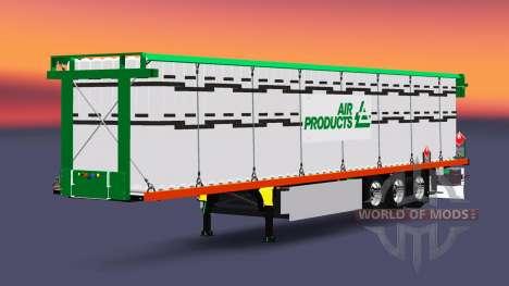 Полуприцеп-площадка с грузом баллонов для Euro Truck Simulator 2