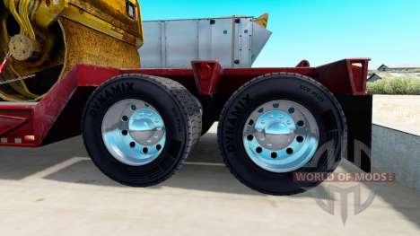 Хромированные колёсные диски у полуприцепов для American Truck Simulator