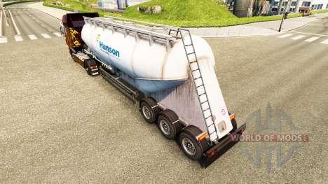 Скин Hanson на цементный полуприцеп для Euro Truck Simulator 2
