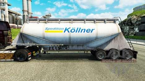 Скин Spedition Kollner на цементный полуприцеп для Euro Truck Simulator 2