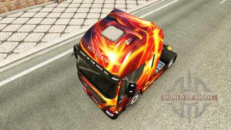 Скин Fire Effect на тягач Iveco для Euro Truck Simulator 2