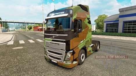 Скин Camo на тягач Volvo для Euro Truck Simulator 2