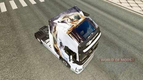Скин Drache v1.1 на тягач Volvo для Euro Truck Simulator 2
