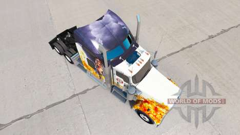 Скин Firefighter на тягач Kenworth W900 для American Truck Simulator