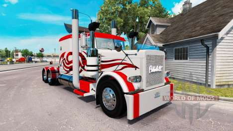 Скин Jammin Gears на тягач Peterbilt 389 для American Truck Simulator