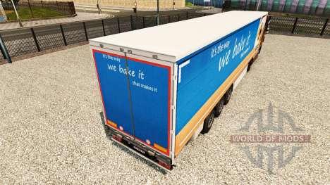 Скин Greggs на шторный полуприцеп для Euro Truck Simulator 2
