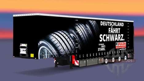 Шторный полуприцеп Krone Fulda для Euro Truck Simulator 2