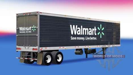 Скин Walmart на полуприцеп для American Truck Simulator