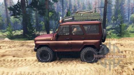 УАЗ-315195 турбо дизель v2.0 для Spin Tires