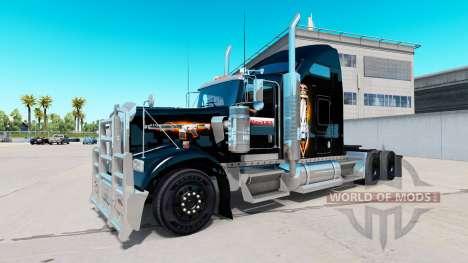 Скин Black Ops v2 на тягач Kenworth W900 для American Truck Simulator