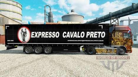 Скин Expresso Cavalo Preto на полуприцепы для Euro Truck Simulator 2