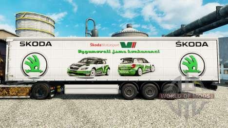 Скин Skoda на полуприцепы для Euro Truck Simulator 2