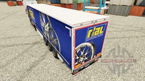 Скин Rial на полуприцепы для Euro Truck Simulator 2
