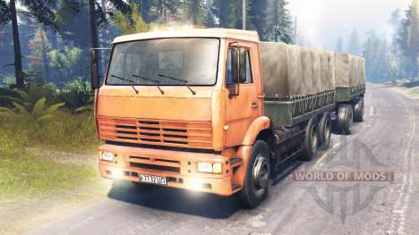 КамАЗ-6522 магистральный для Spin Tires