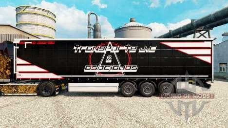 Скин Transporte J.C & Asociados на полуприцепы для Euro Truck Simulator 2