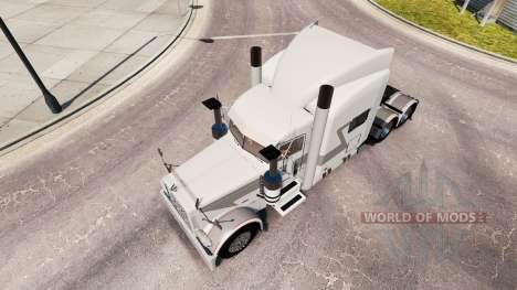 Скин Bullhorn на тягач Peterbilt 389 для American Truck Simulator
