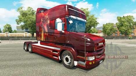 Скин Dragon на тягач Scania T для Euro Truck Simulator 2