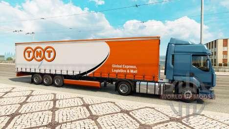 Скины на полуприцепы в трафике v0.1 для Euro Truck Simulator 2