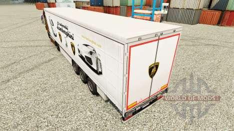 Скин Lamborghini на полуприцепы для Euro Truck Simulator 2