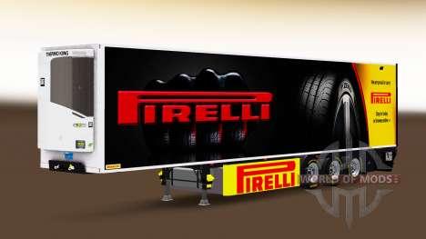 Полуприцеп-рефрижератор Chereau Pirelli для Euro Truck Simulator 2