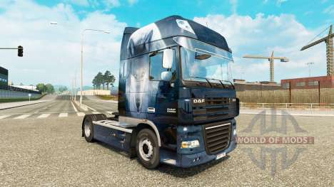 Скин Wolf на тягач DAF для Euro Truck Simulator 2