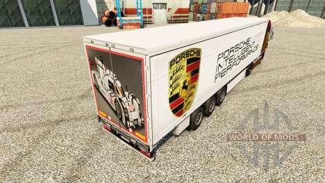 Скин Porsche на полуприцепы для Euro Truck Simulator 2