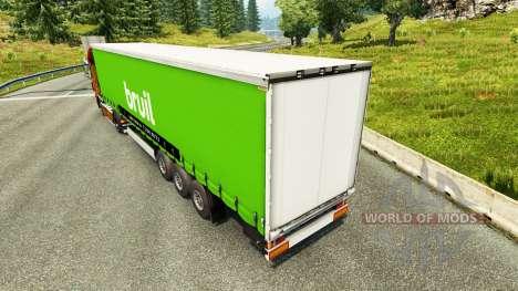 Скин Bruil на полуприцепы для Euro Truck Simulator 2