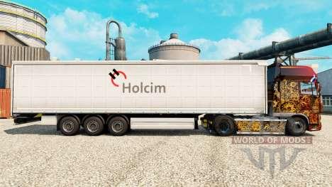 Скин Holcim на полуприцепы для Euro Truck Simulator 2