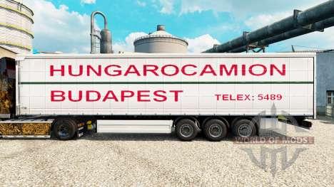 Скин Hungarocamion Budapest на полуприцепы для Euro Truck Simulator 2