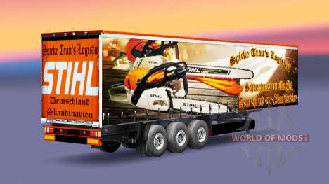 Скин Spike Trans Logistic на полуприцепы для Euro Truck Simulator 2