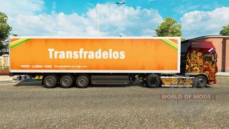 Скин Transfradelos на полуприцепы для Euro Truck Simulator 2