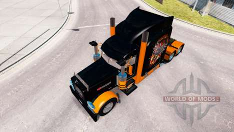 Скин Harley-Davidson на тягач Peterbilt 389 для American Truck Simulator