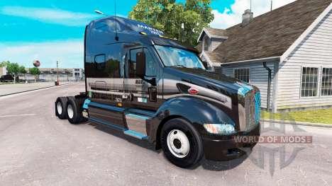 Скин Marten на тягач Peterbilt 387 для American Truck Simulator