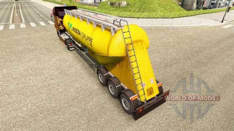 Скин Nosta Gruppe на цементный полуприцеп для Euro Truck Simulator 2