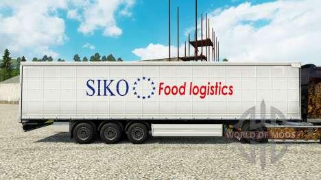 Скин Siko Food Logistics на полуприцепы для Euro Truck Simulator 2