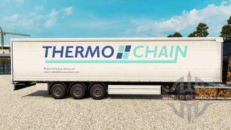 Скин Thermo Chain на шторный полуприцеп для Euro Truck Simulator 2