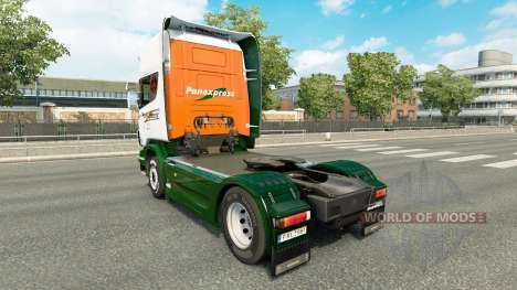 Скин Panexpress на тягач Scania для Euro Truck Simulator 2