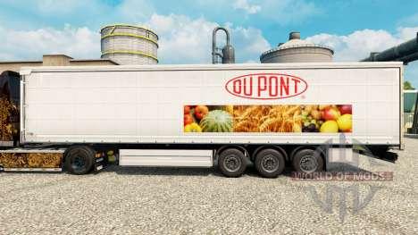 Скин Du Pont на полуприцепы для Euro Truck Simulator 2