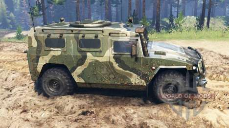 ГАЗ-2330 Тигр для Spin Tires