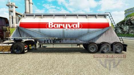 Скин Baryval на цементный полуприцеп для Euro Truck Simulator 2