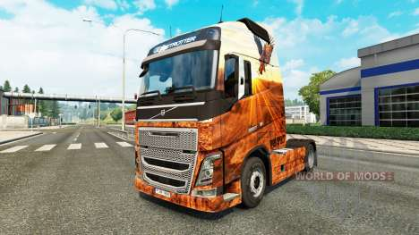 Скин Free spirit на тягач Volvo для Euro Truck Simulator 2