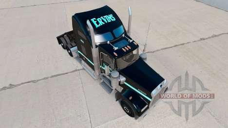 Скин Ervins Transport на тягач Kenworth W900 для American Truck Simulator