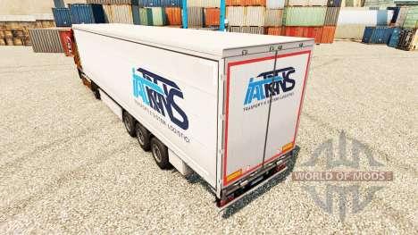 Скин Trans IAT на полуприцепы для Euro Truck Simulator 2