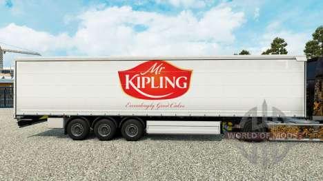 Скин Mr.Kipling на шторный полуприцеп для Euro Truck Simulator 2