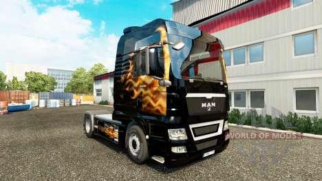 Скин Fames на тягач MAN для Euro Truck Simulator 2