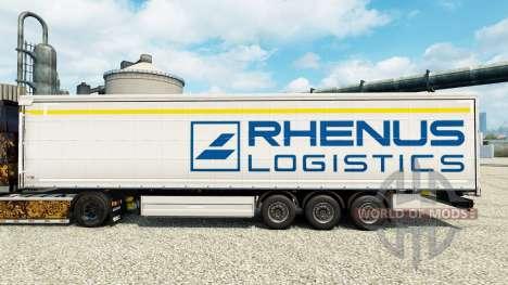 Скин Rhenus Logistics на полуприцепы для Euro Truck Simulator 2