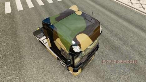 Скин Camo на тягач DAF для Euro Truck Simulator 2