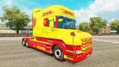 Скин DHL на тягач Scania T