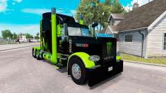 Скин Monster Energy Green на тягач Peterbilt 389