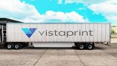 Скин Vistaprint на удлинённый полуприцеп